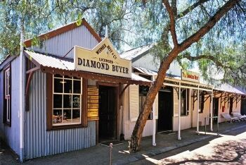 Diamond trader at the Open Mine Museum, Kimberley Big Hole, Northern Cape